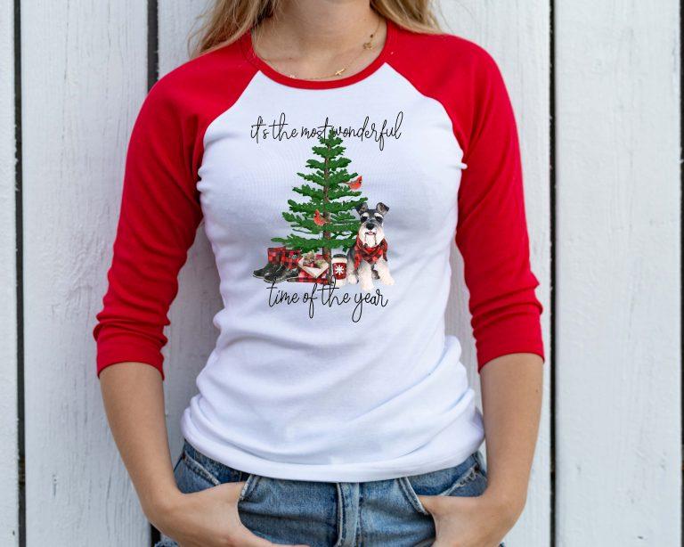 taras schnauzers shop christmas tshirt