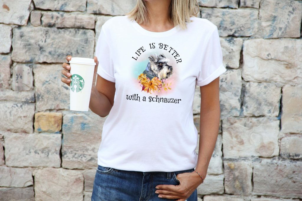 life-is-better-with-a-schnauzer-womens-tshirt