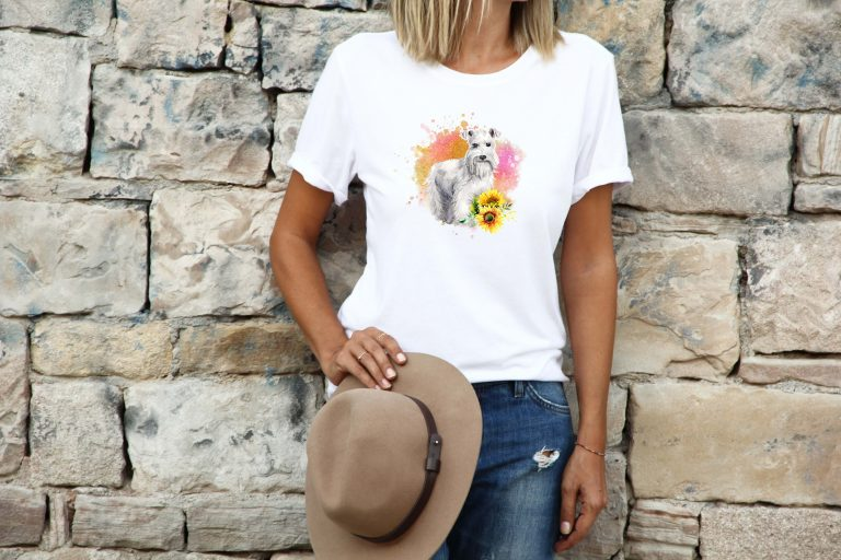 womens-tshirt-cute-schnauzer
