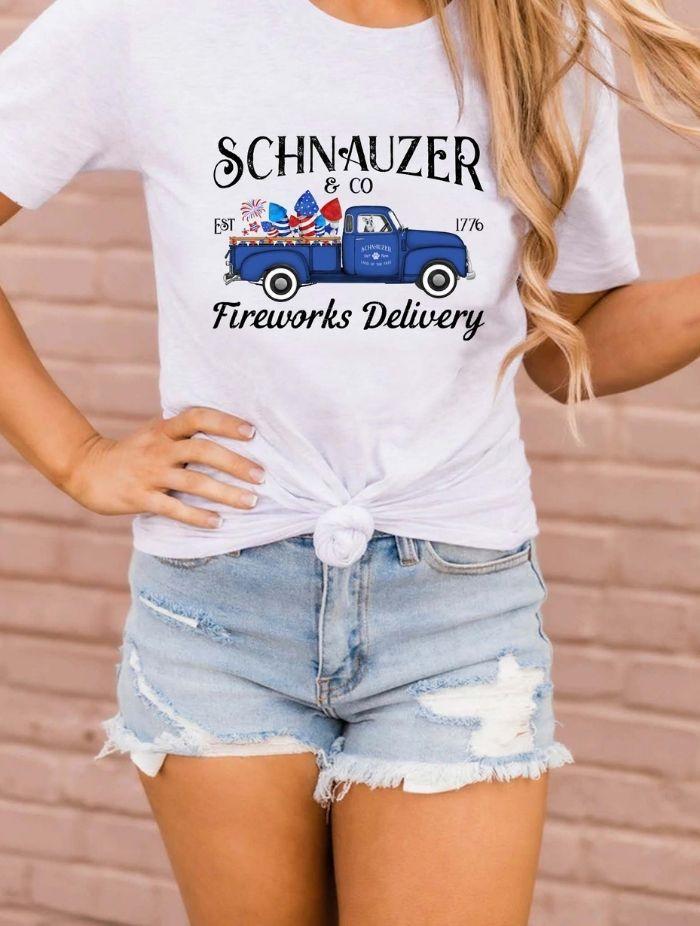fireworks delivery girl mock tshirt taras schnauzers amazon