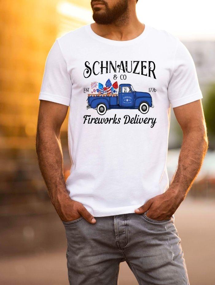 fireworks delivery guy tshirt taras schnauzers amazon