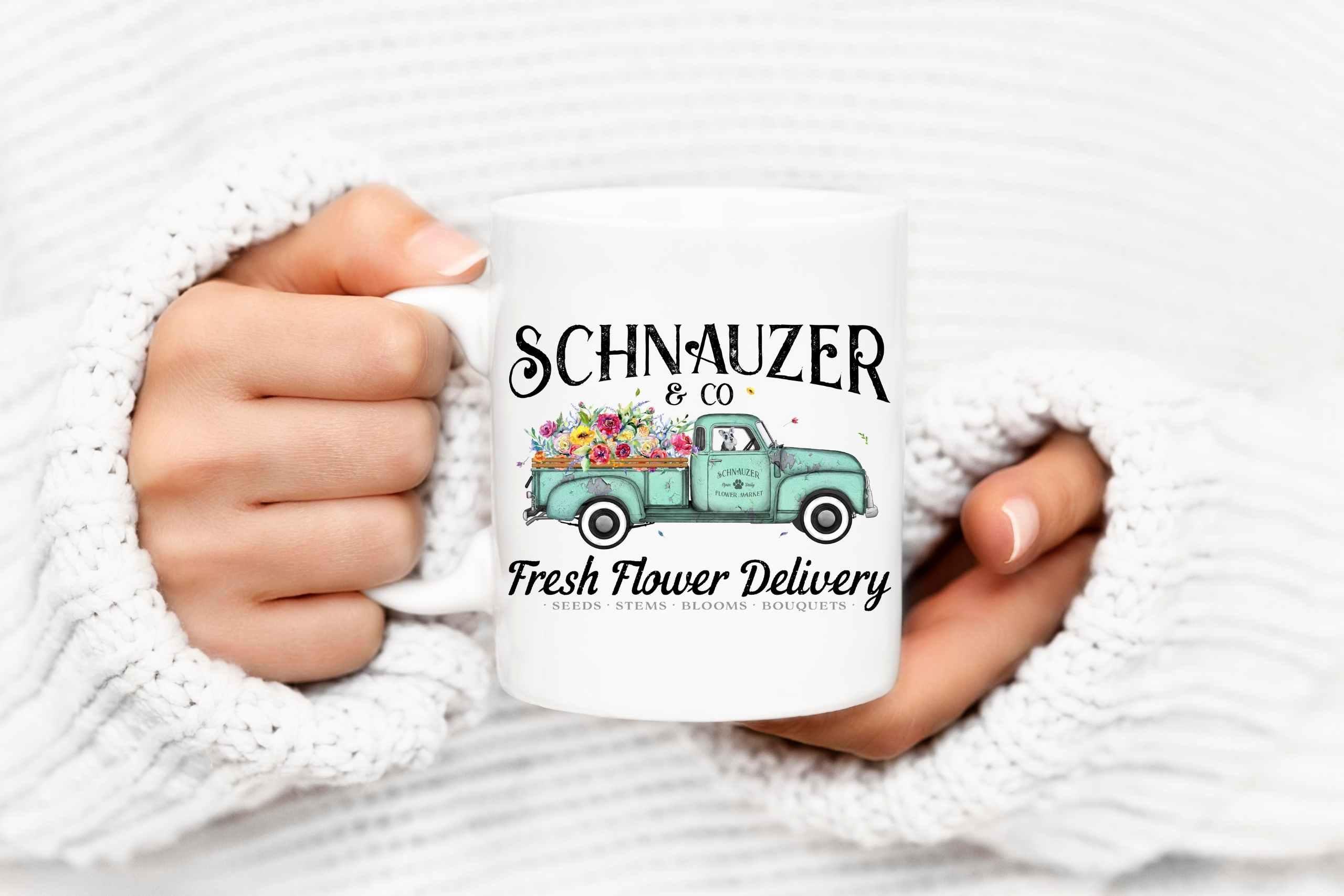 flower_deliver_schnauzer_mug