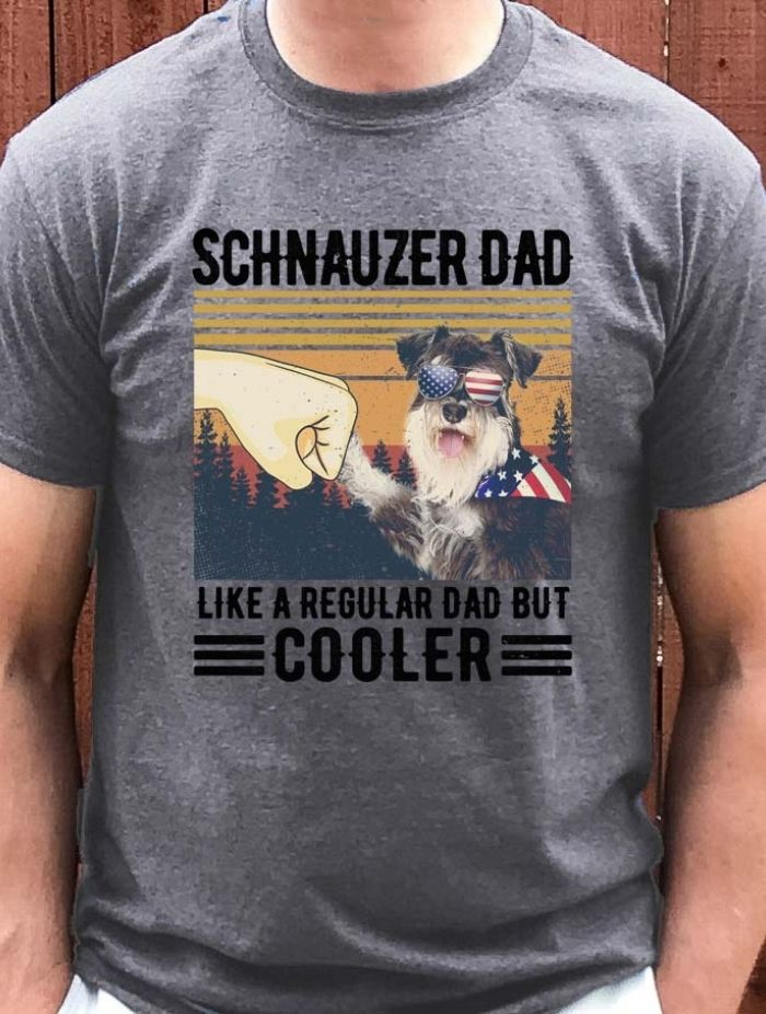 schnauzer dad cooler dad tshirt taras schnauzers amazon